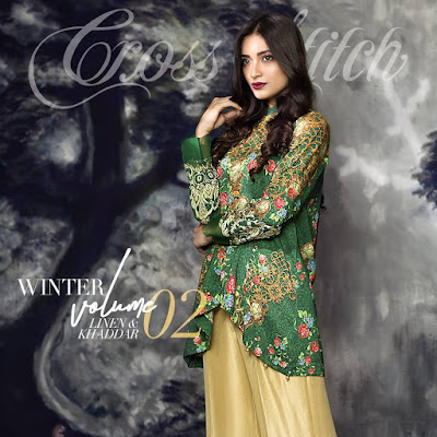 cross stitch winter linen khaddar dresses collection 2017 (1)