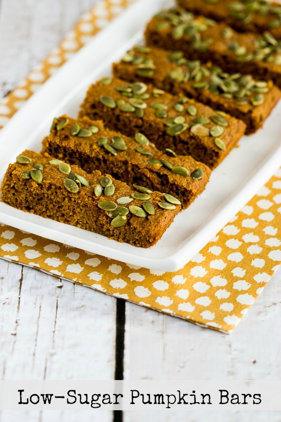 think these tasty Low-Sugar Pumpkin Bars would make be a fun idea ...