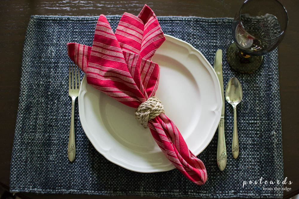 patriotic summer place setting