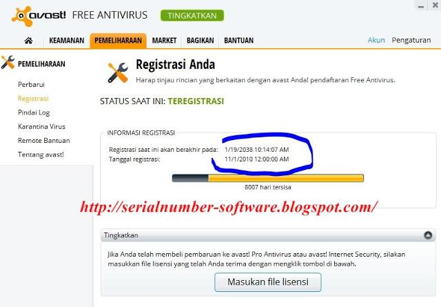 codigo de licencia avast free antivirus 2018