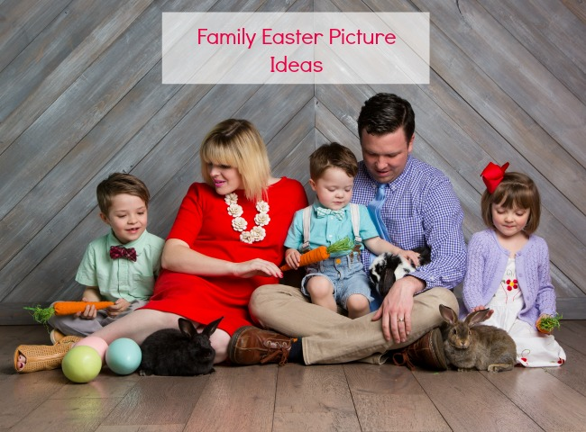 family easter pictures with bunnies