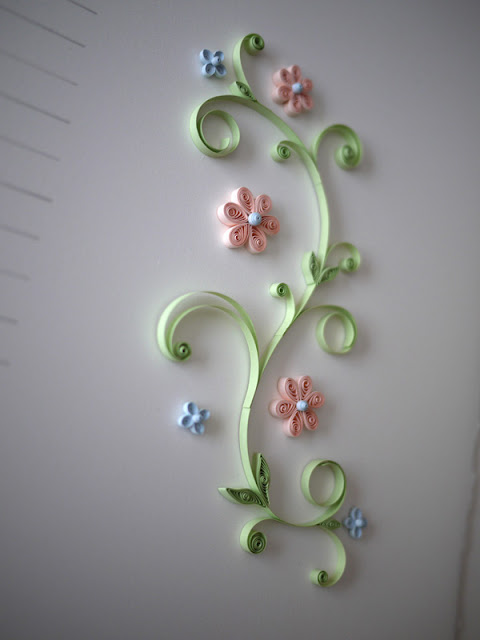 Marriage Certificate with Quilled Pastel Flowers