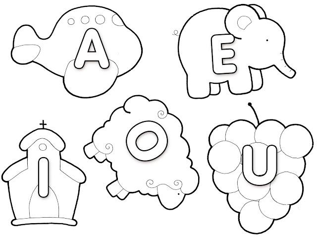 Vogais grandes de EVA com moldes