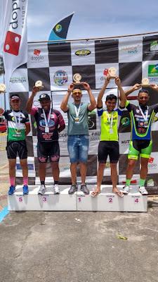 Equipe Registro-SP Team na última etapa da Copa Litoral Paulista de Ciclismo Amador