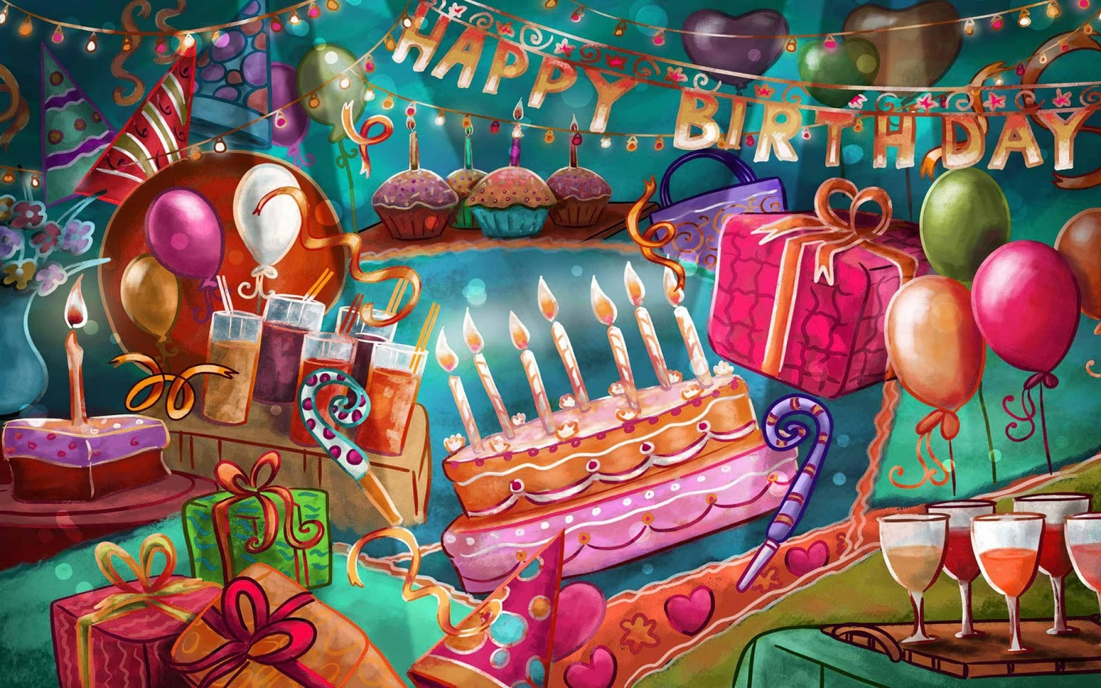 Happy birthday greetings wishes high resolution hd 2013 - Happy birthday card wallpaper ...