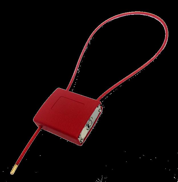 Control carga en medios de trasporte con candado regulable electrónico