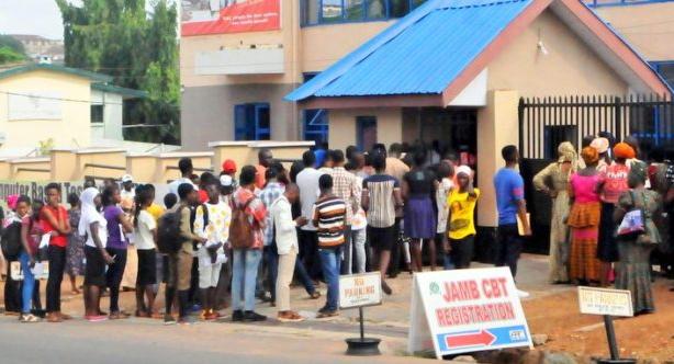 jamb candidate pistol examination hall