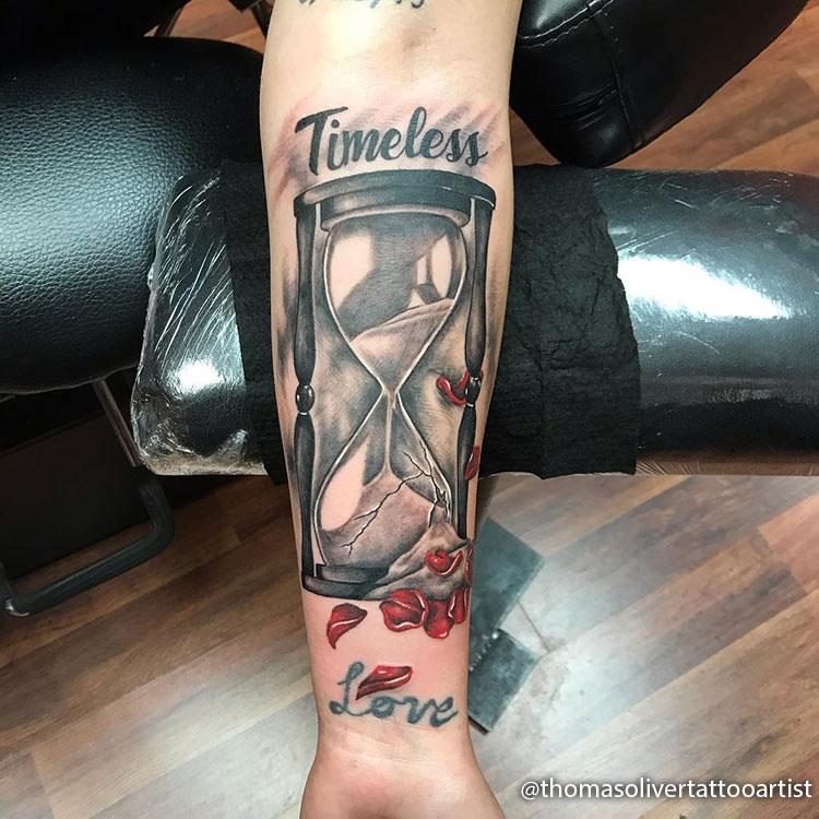 Tatuajes de Relojes de Arena del Tiempo