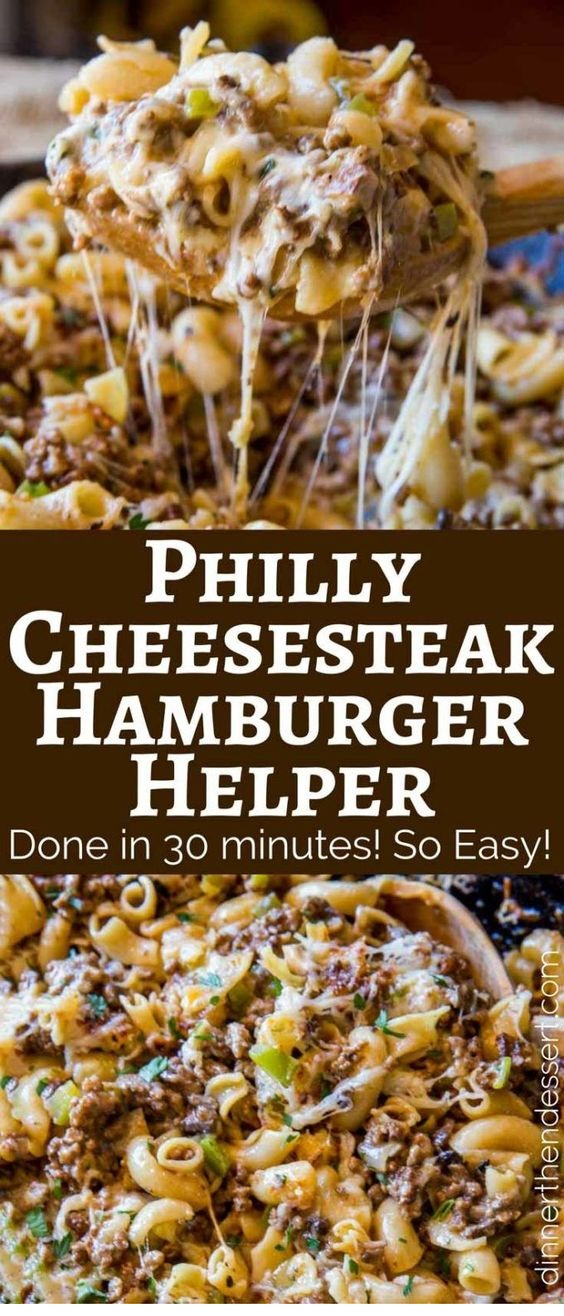 Philly Cheesesteak Hamburger Helper