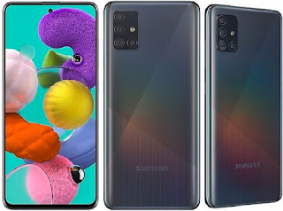 Samsung Galaxy A51 - 8Core Android 9/10 128GB/4GB Smartphone - Dual SIM 6.5-Inch Phone with 4000mAh Battery