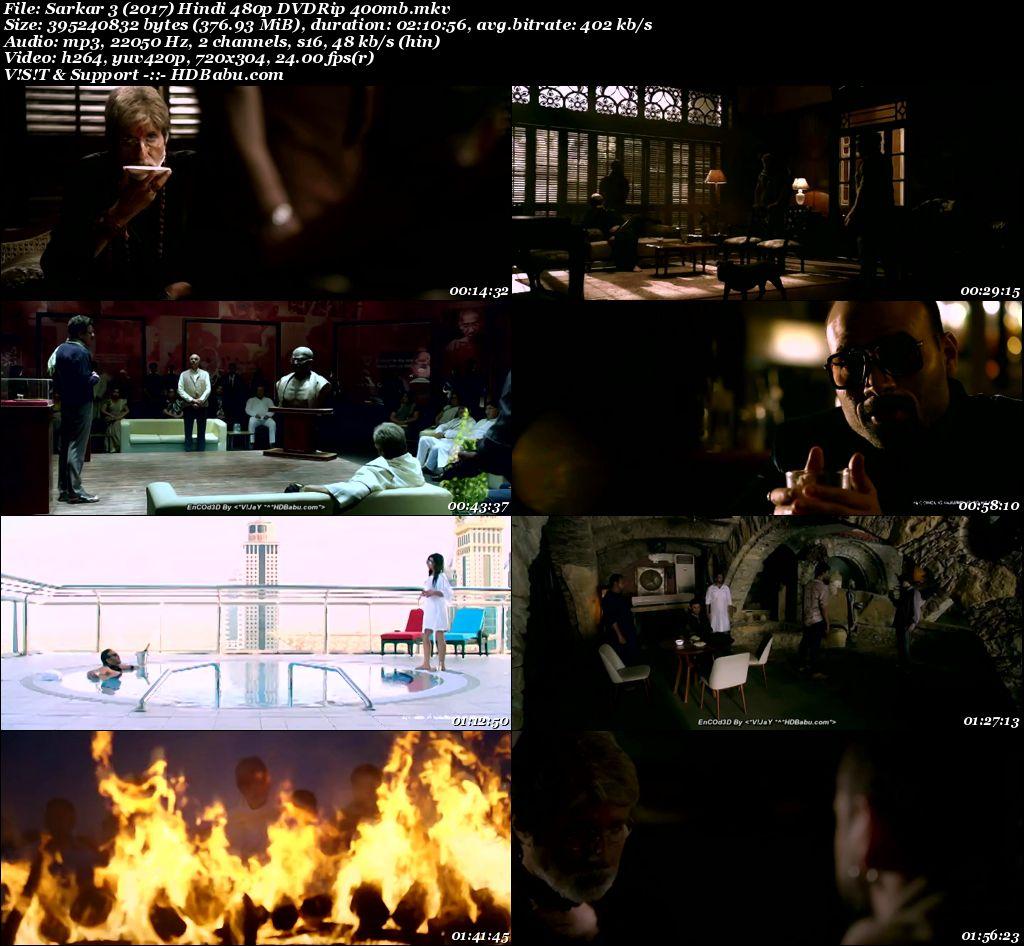 Sarkar 3 (2017) Hindi 480p DVDRip 375 MB Screenshot