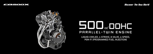 Spesifikasi mesin CB500X