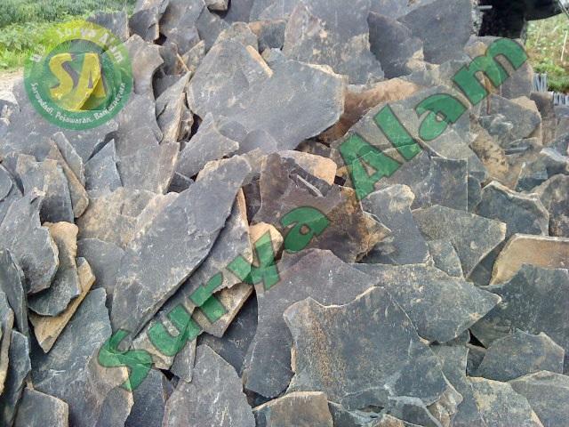 Batu Lempeng Acak Hitam