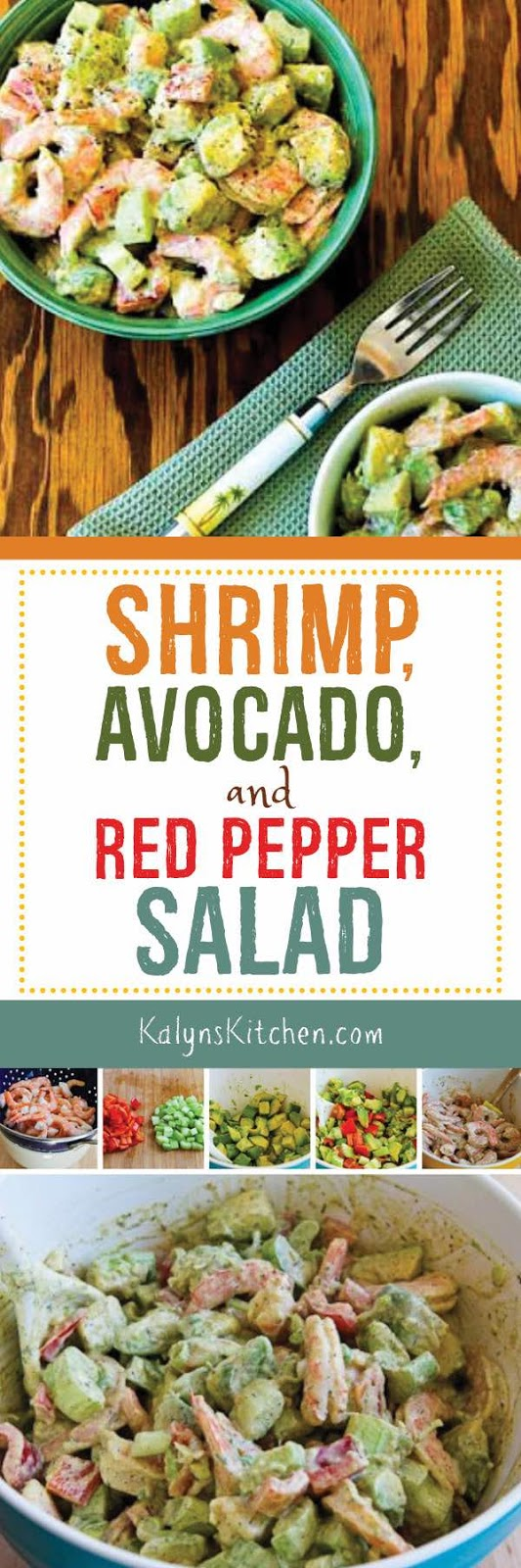 Shrimp, Avocado, and Red Pepper Salad - Kalyn's Kitchen