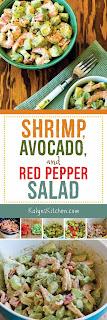 Shrimp, Avocado, and Red Pepper Salad found on KalynsKitchen.com.
