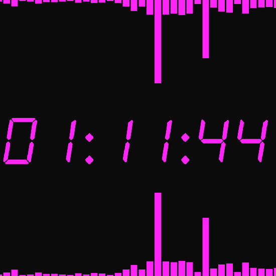 Purple Clock with Sound Wallpaper Engine