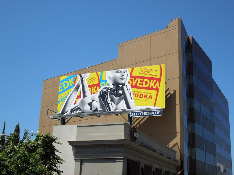 Svedka Vodka tastes as good as famous feels billboard