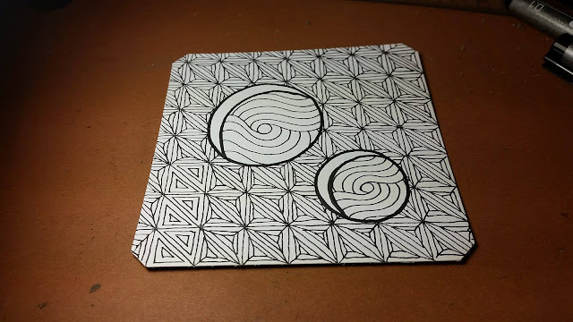Fassett Zentangle before shading