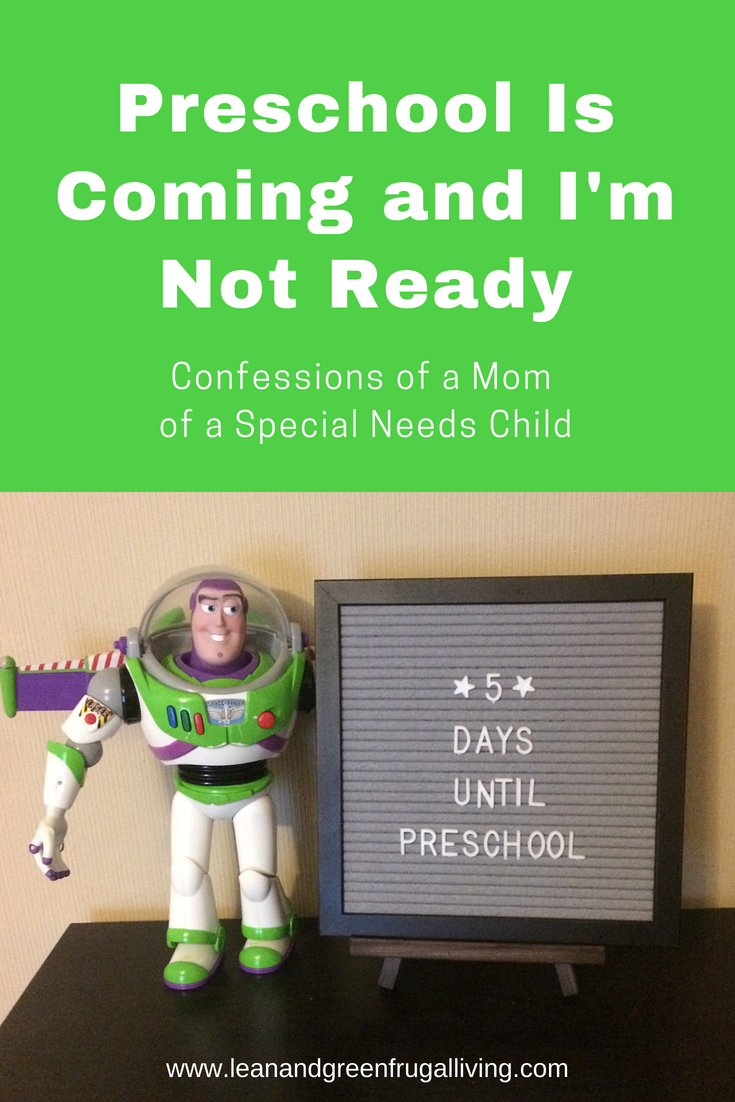 Preschool Is Coming- And I'm Not Ready
