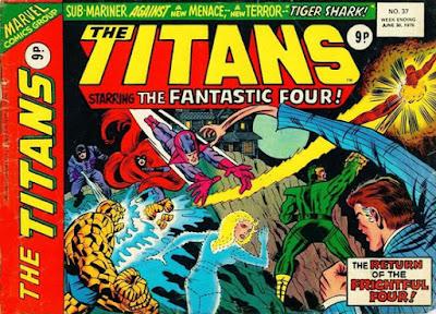 Marvel UK, The Titans #37, Fantastic Four vs Frightful Four