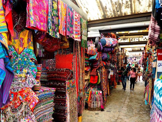 Artisans market in Antigua, Guatemala