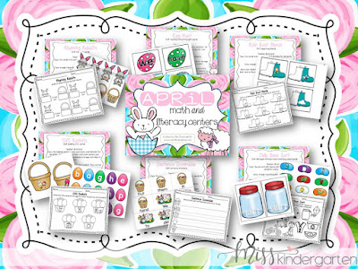 http://www.miss-kindergarten.com/2016/03/april-math-and-literacy-centers.html