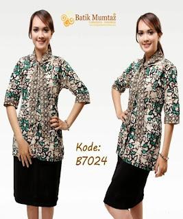model baju batik bank
