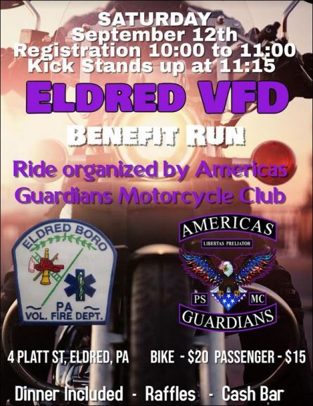 9/12 Eldred Vfd Benefit Run
