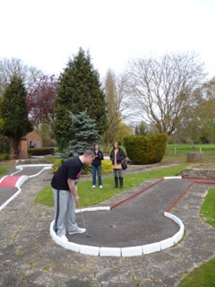 Minigolf at the Abbey Meadows Crazy Golf course in Abingdon-on-Thames