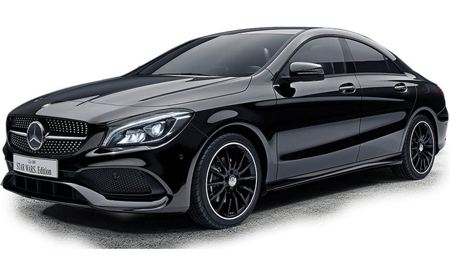 japan welcomes mercedes benz cla 180 star wars edition carscoops. Black Bedroom Furniture Sets. Home Design Ideas