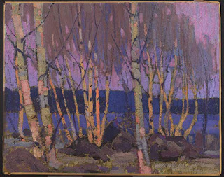 Tom Thomson painting - Evening, Canoe Lake