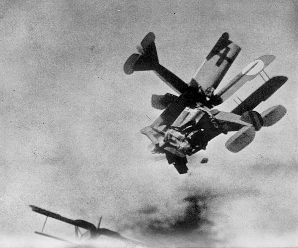 Faked photo of a WWI dogfight, made by suspending models over a background photograph. Death in the Air The War Diary and Photographs of a Flying Corps Pilot, published in 1933, was determined to a fake. Dogfights and other stories of pilots. marchmatron.com
