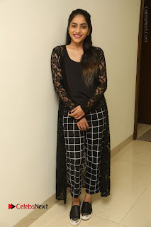 Actress Punarnavi Bhupalam Stills in Black Dress at Pittagoda Press Meet  0131.JPG
