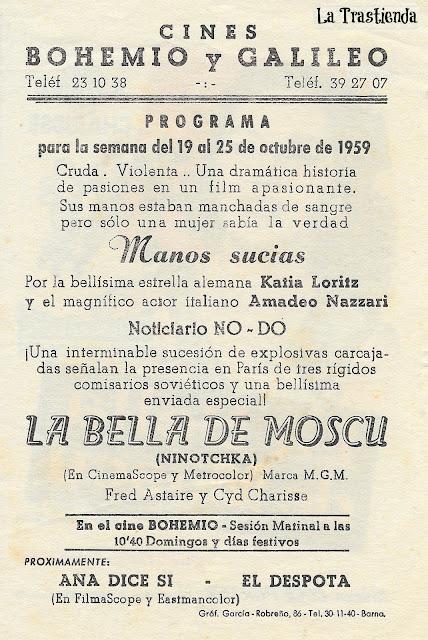 La Bella de Moscú - Folleto de mano - Fred Astaire - Cyd Charisse