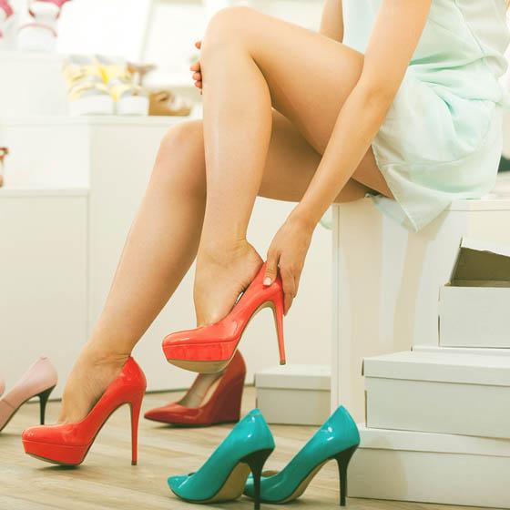Mencoba sepatu wanita murah dan berkualitas