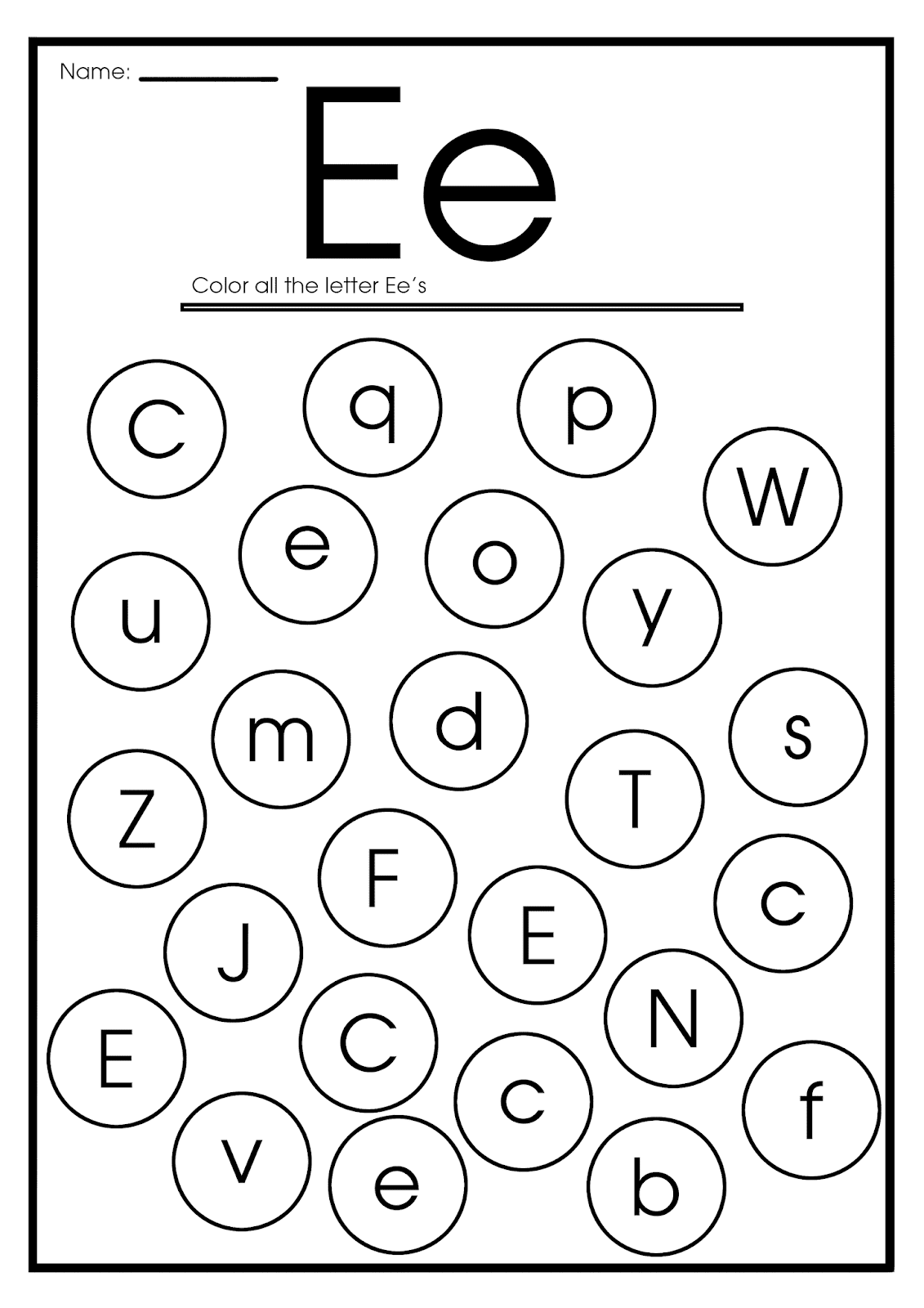 English For Kids Step By Step Letter E Worksheets Flash
