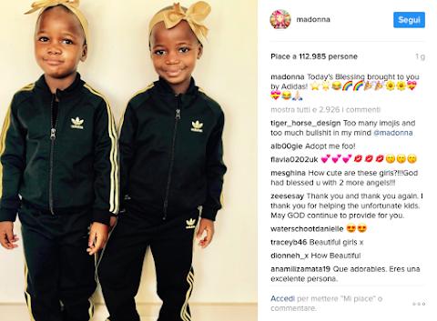 le nuove figlie di madonna già in total look adidas su instagram