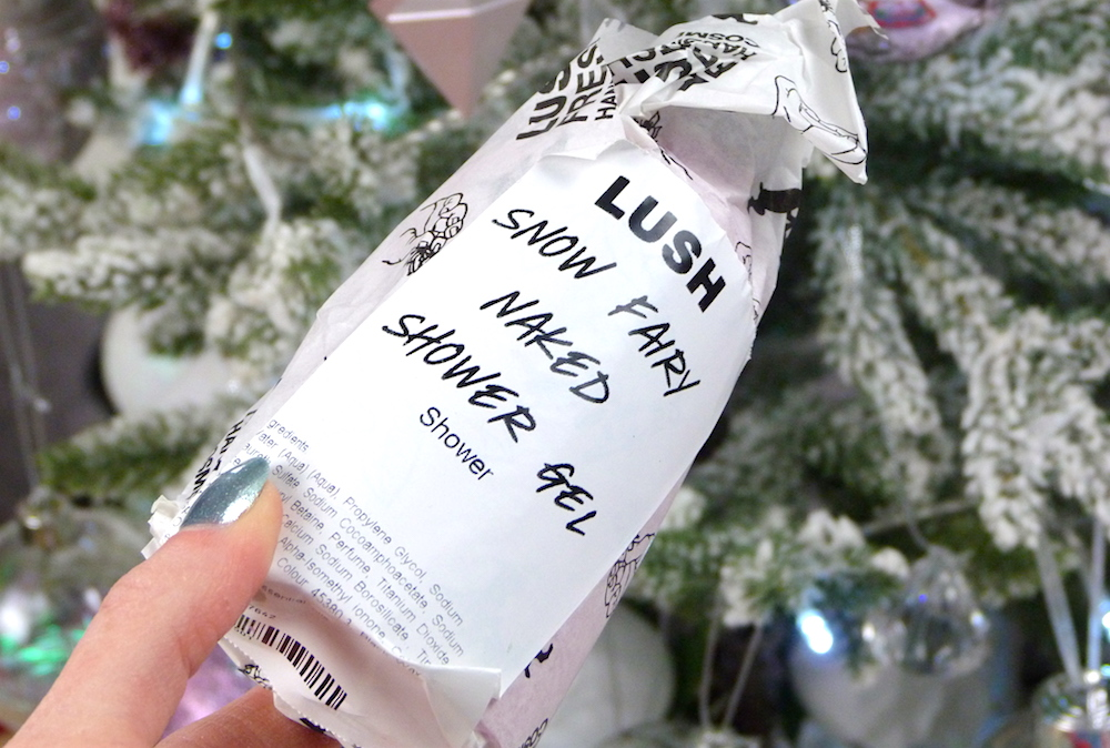 an image of Lush Snow Fairy Naked Shower Gel 2017