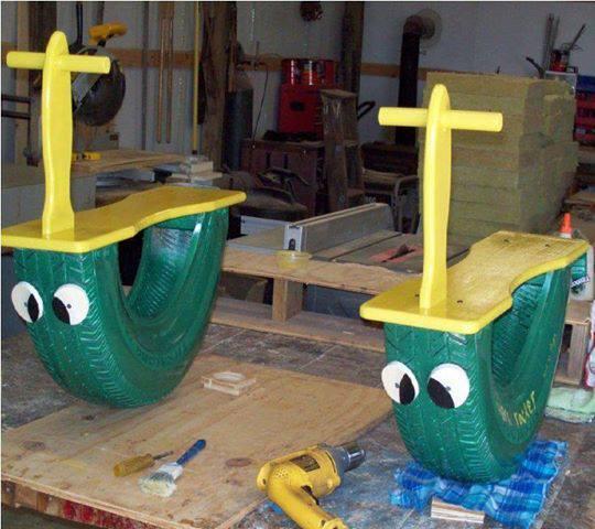 Juegos Para Ninos Hechos Con Neumaticos Reciclados Construccion Y