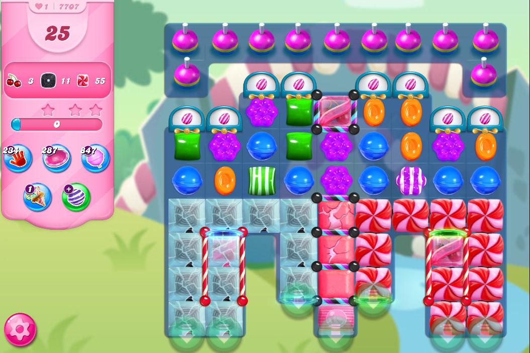 Candy Crush Saga level 7707
