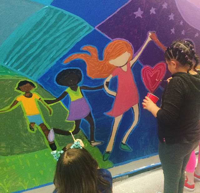 in lak'ech, student mural, social justice mural, kids mural, portland muralist, portland artist