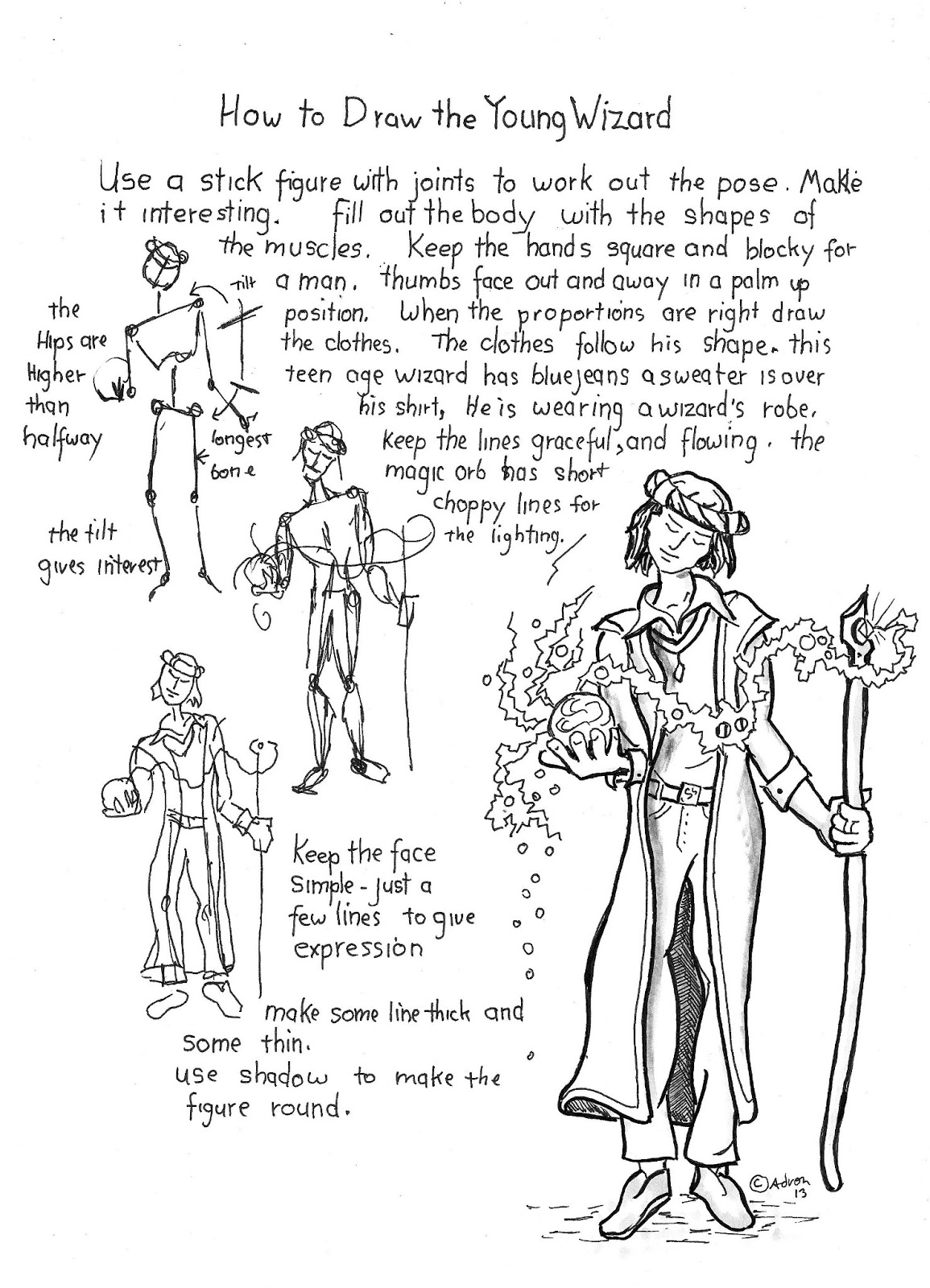 How to Draw Worksheets for The Young Artist: How to Draw a Young ...