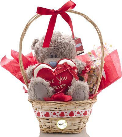 C mo hacer una canasta de dulces para regalar en san - Como adornar cestas de mimbre ...