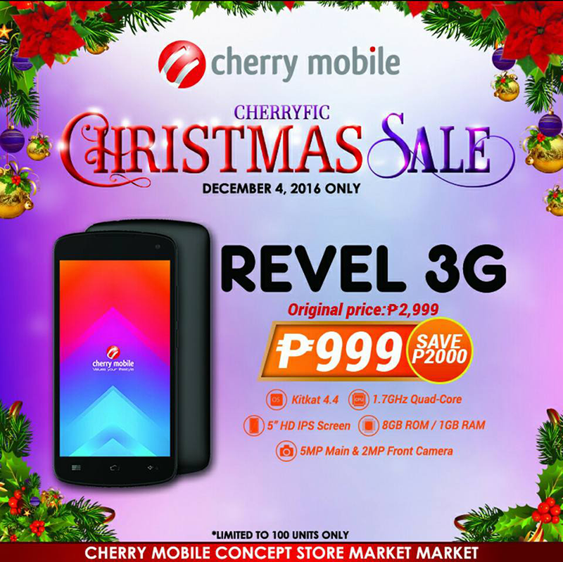 Super Sale Alert: Cherry Mobile Revel 3G Is Priced At PHP 999 For One Day Only!