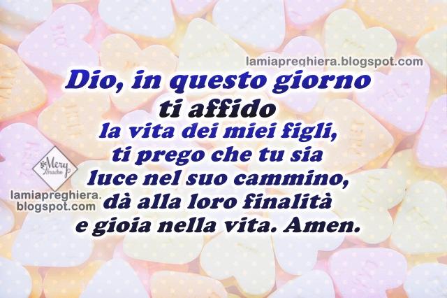 Popolare Preghiera per i miei figli. Dio, protegge ai miei figli GK05