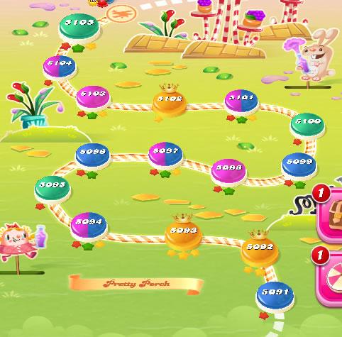 Candy Crush Saga level 5091-5105