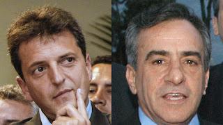 Sergio Massa y Jesús Cariglino