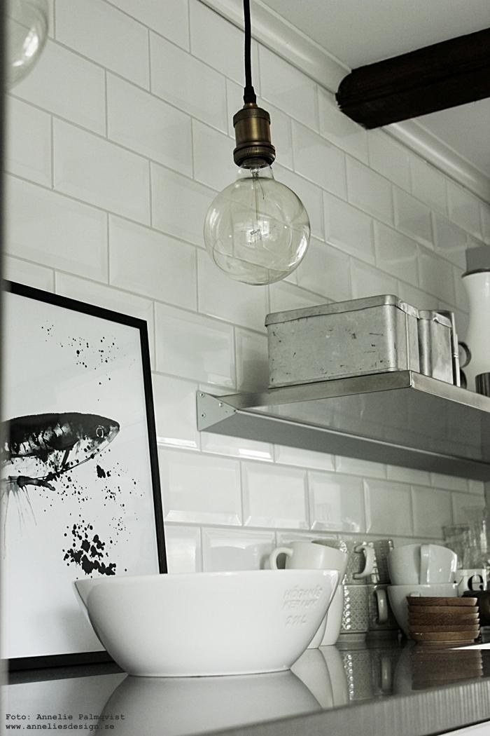 lampa, lampor, hängande kökslampor, kökslampa, textilsladd, lamp, stor glödlampa, kök, köket, annelies design, webbutik, webshop, inredning,