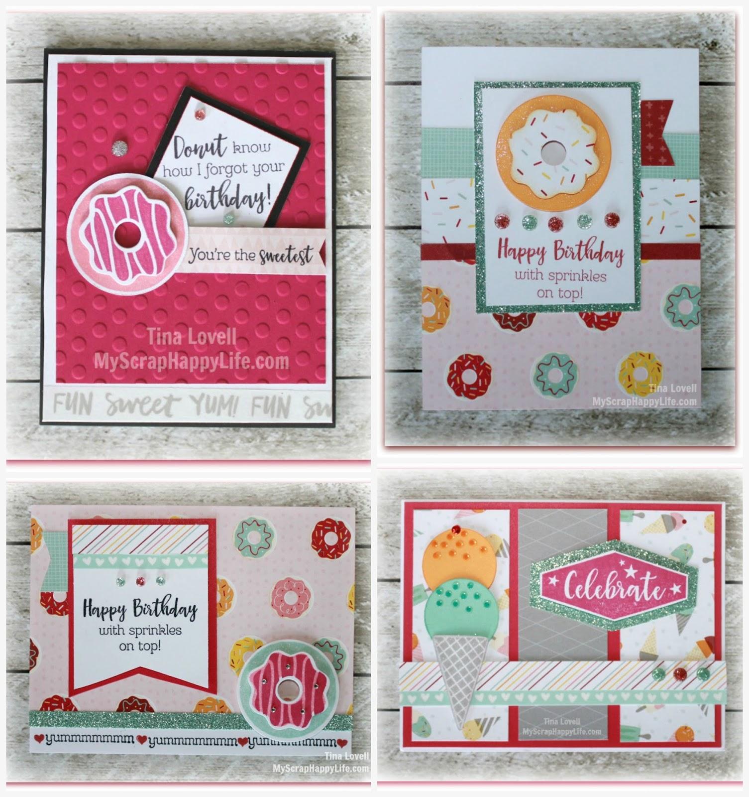 Scrapbooking Kits Sugar Rush Birthday Card Kit SOLD OUT – Scrapbook Birthday Cards