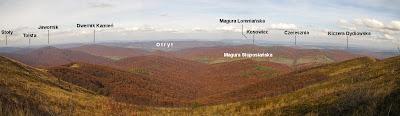 Kruhly Wierch. Panorama na północ.